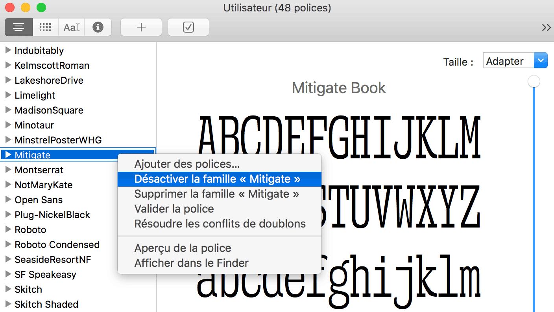 installer une police sur mac pour word