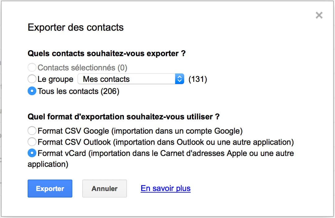 comment transf u00e9rer ses contacts gmail vers icloud