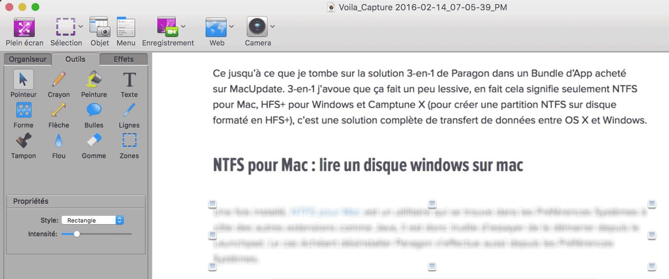 Capture d 39 cran sur mac raccourcis logiciels for Capture 2cran